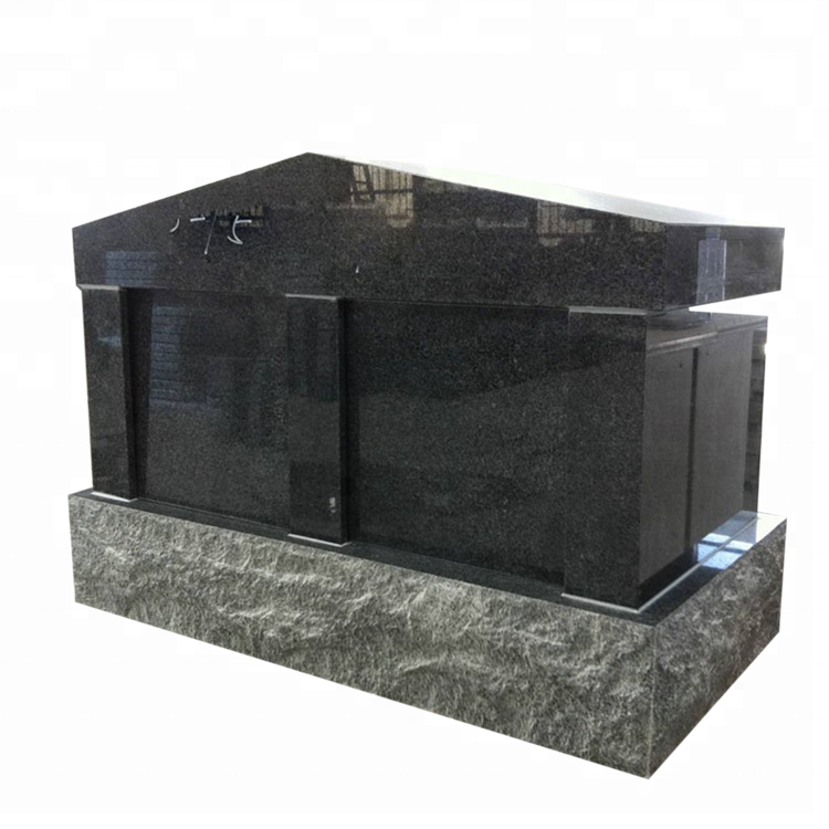 Customized Size Black Granite Columbarium Niche Design Prices