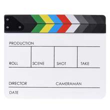"10"" * 12"" / 24.5 * 30cm Acrylic Dry Erase Clapboard Clap-stick Clapper Board Slate for Film Movie Cut Action Scene"