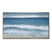 Sandy Beach Interesting Design Picture Oil Painting Artwork Framed Canvas