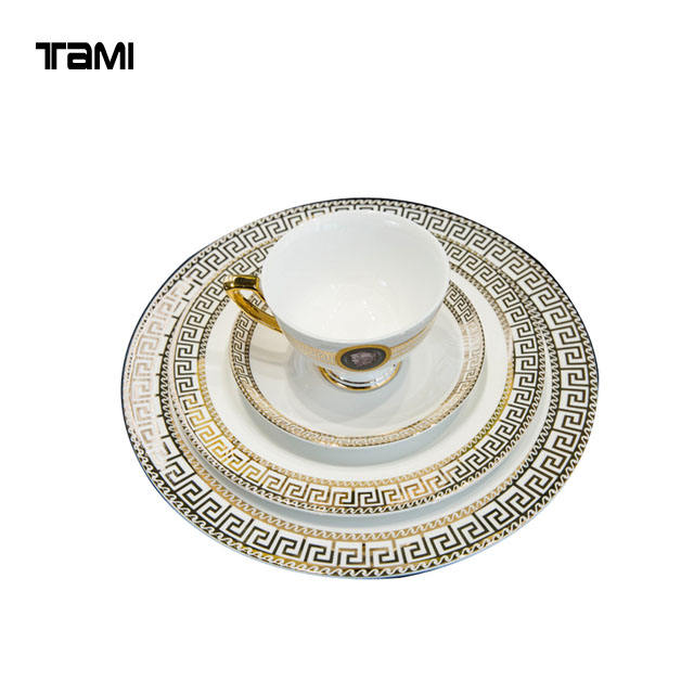 Gold Arabic Healthy Durable Porcelain Dinnerware sets Tableware