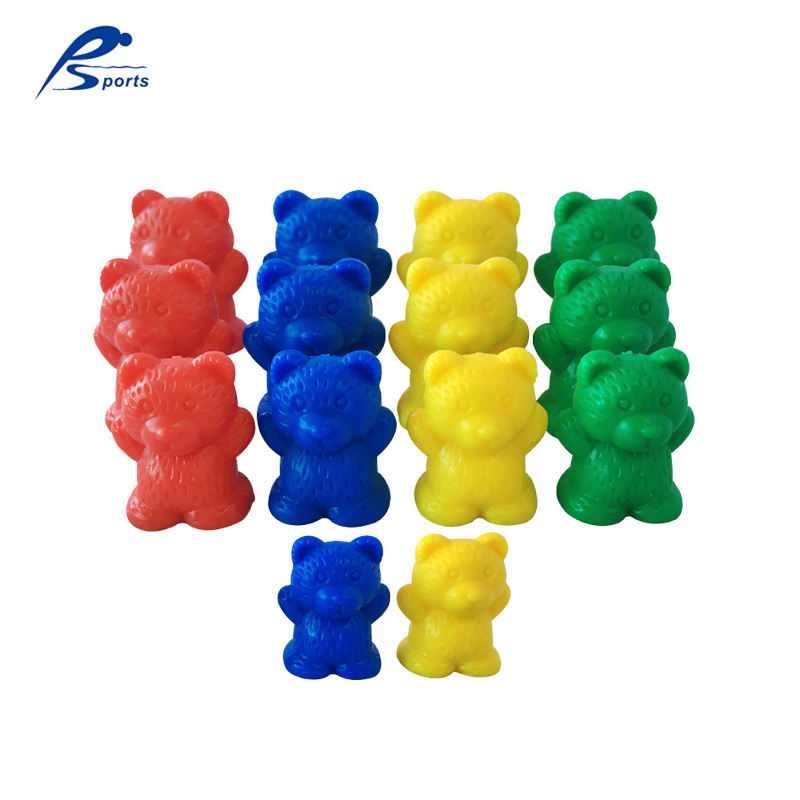 Kid educational toys plastic 96pcs 12/8/4g 4colors Bear Counters bear counting toy teaching aids learning resources