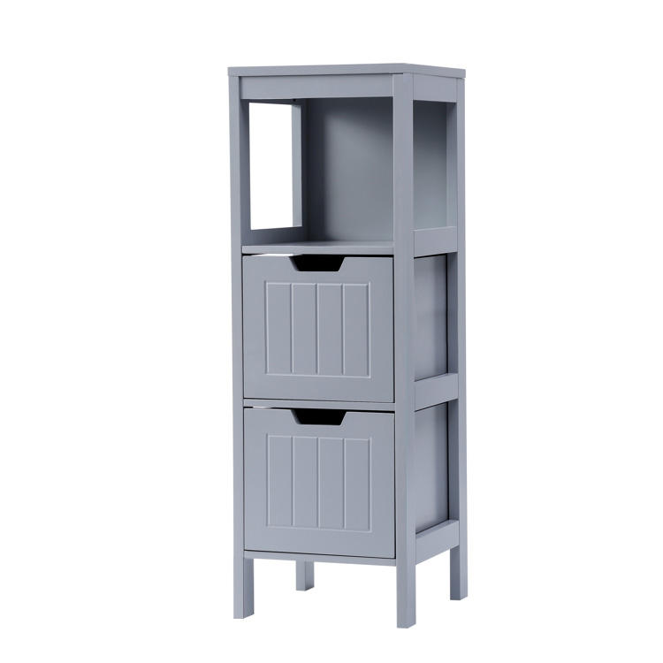 Free Standing Three Layers Storage Bathroom Cabinet with Drawers