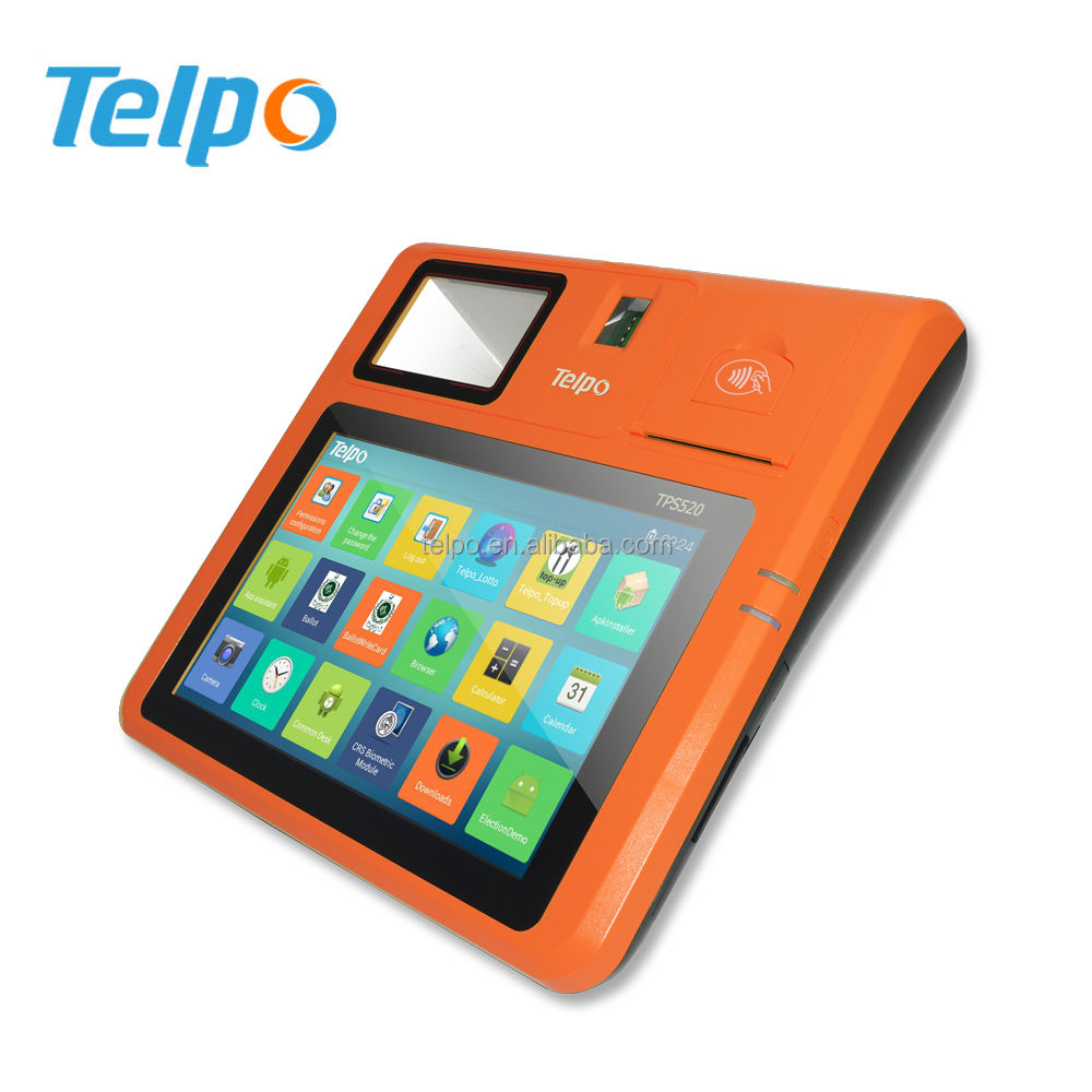 Telpo TPS520 Barcode Scanner Mobile Smart Card Reader Terminal With Thermal Printer