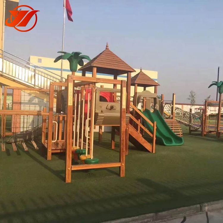 Quality park children have fun wooden outdoor playground equipment