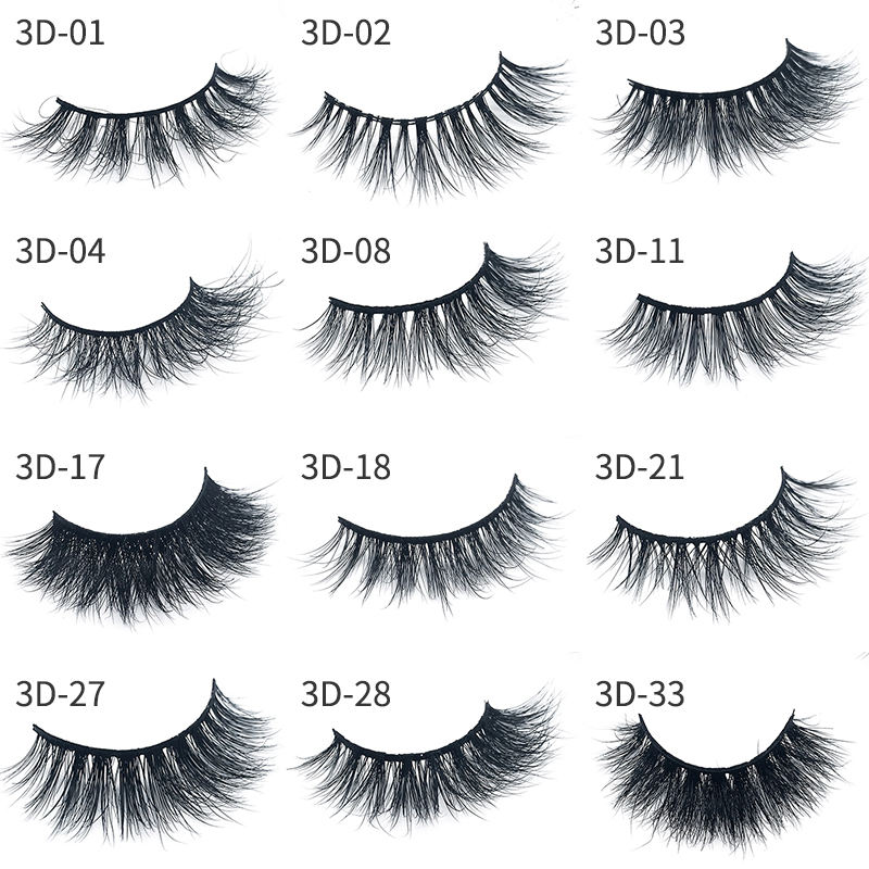 High quality mink fur eyelash 3d mink eyelashes vendor