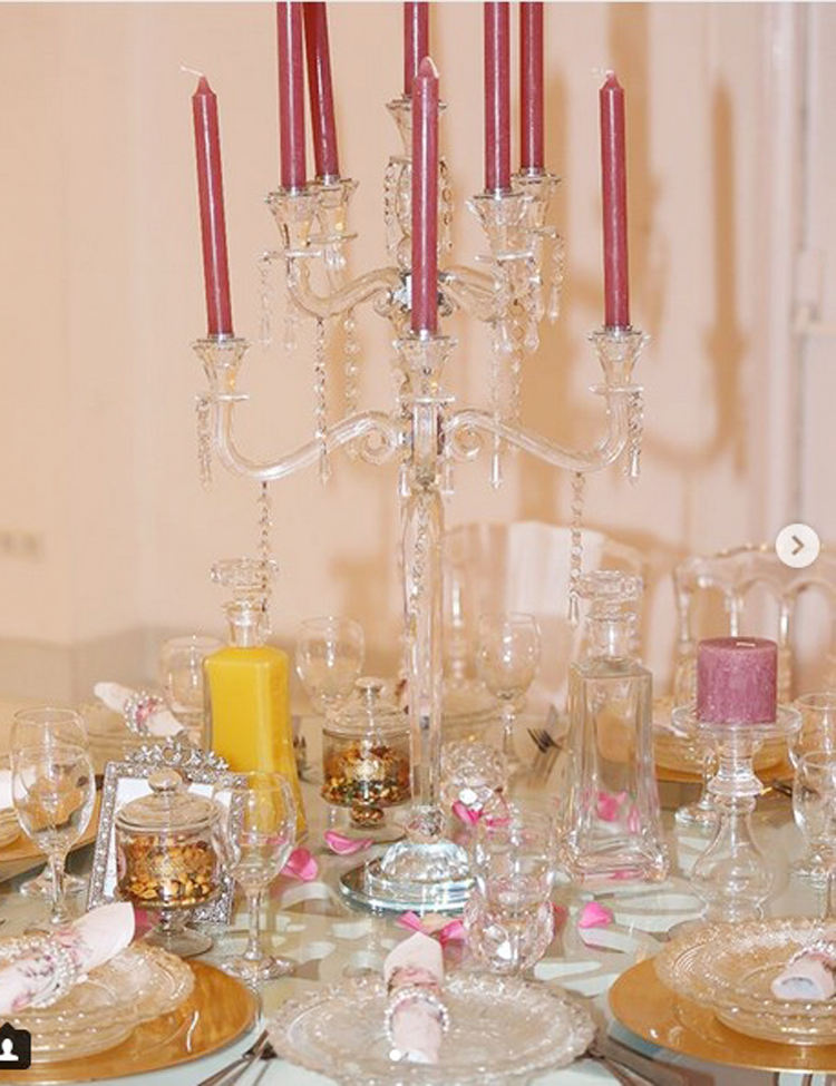 wedding centerpieces modern home goods crystal candle stand 9 arms candelabra