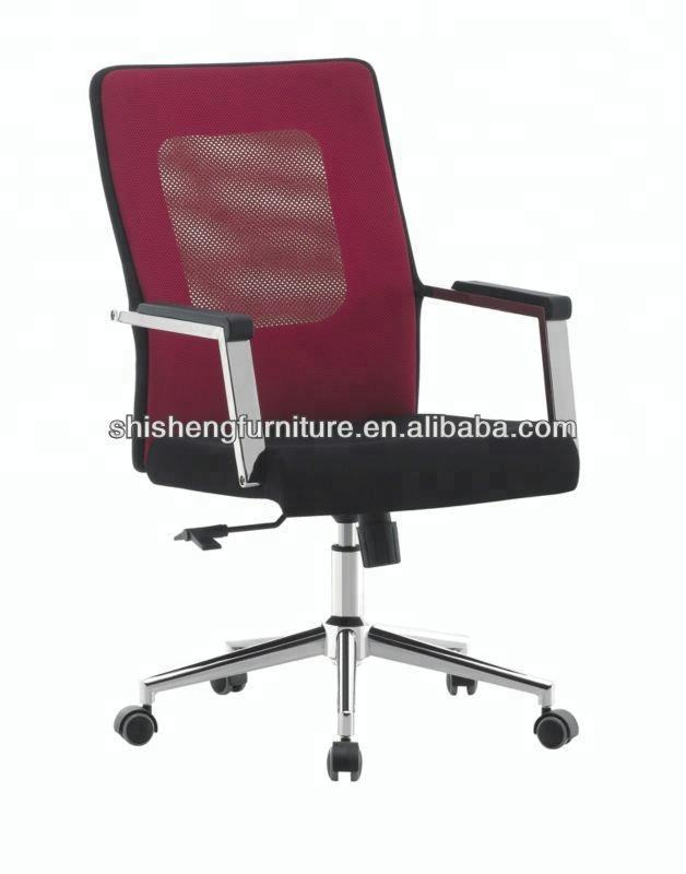 Modern style stronger PP low-back office mesh chair with armrest