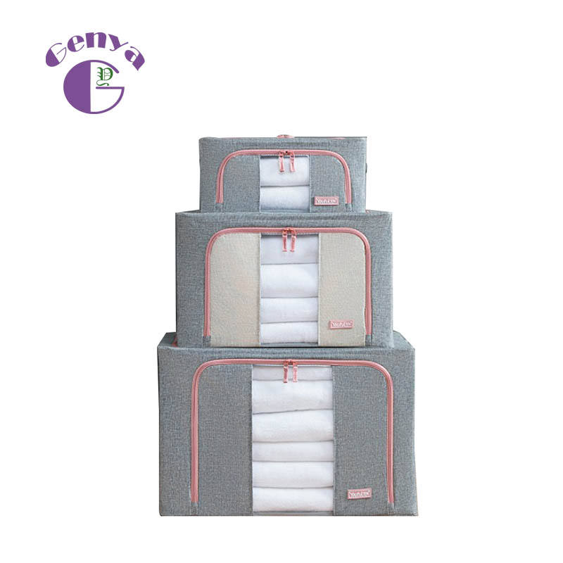 Thick Cotton&Linen Fabric Clothing Organizer Storage Bags for Clothes Blanket