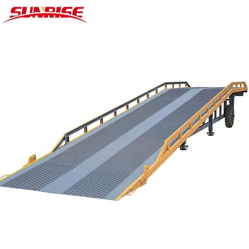 Hot Sale 10t Mobile Hydraulic Container Loading Dock Ramp/Hydraulic Lift for Forklift Ply