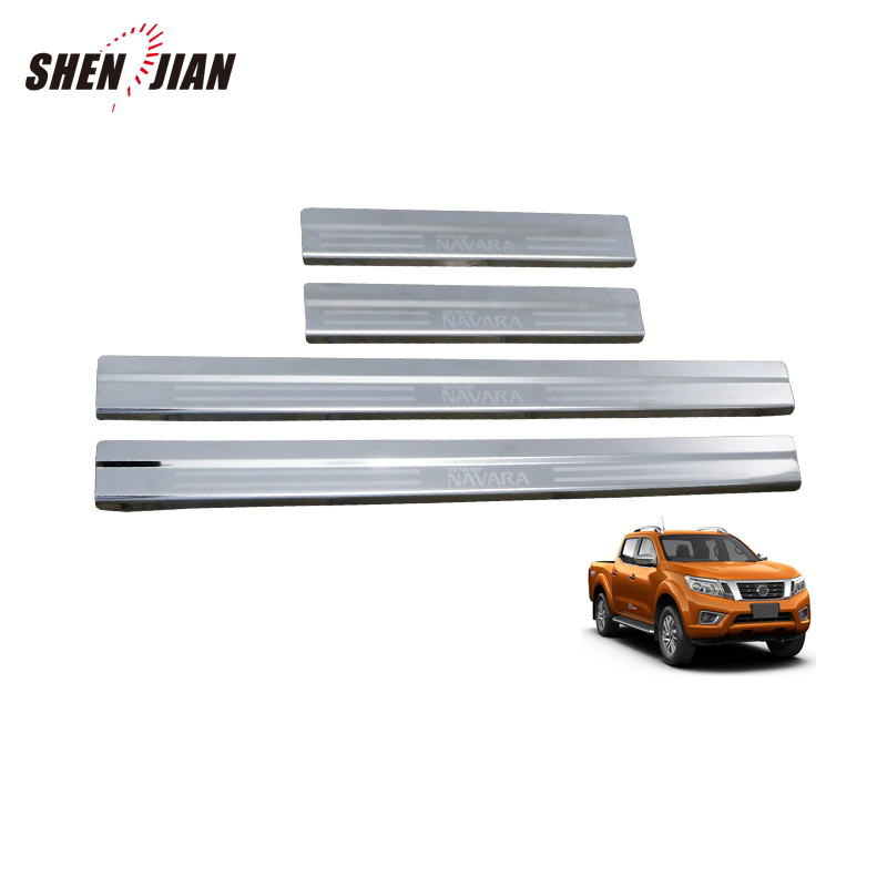 4 Piece 2016 ON Protective Stainless Door Sill Covers STX NAVARA NP300