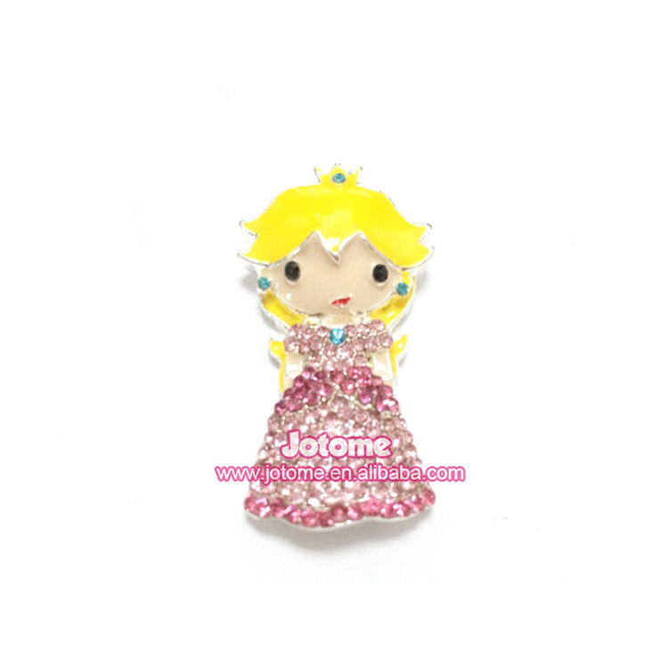 Peach Princess Chunky Cute / Lovely Little Girl Hot Sale Fashion Crystal Rhinestone Pendants, Factory Price! Delivery Fast!