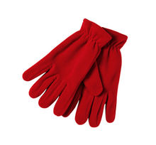 custom logo Winter warm full finger polar fleece gloves for women man