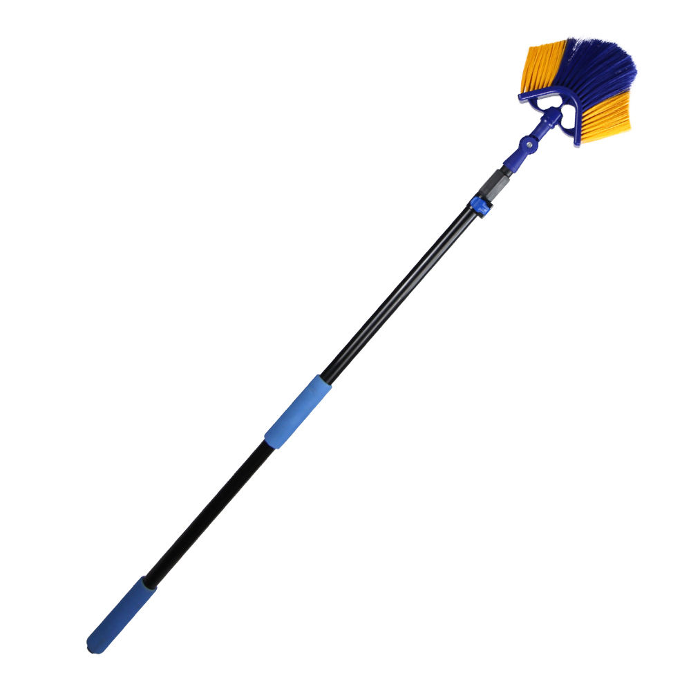 Extenclean telescopic gutter cleaning tools for roof ceiling cleaning with aluminum extension pole