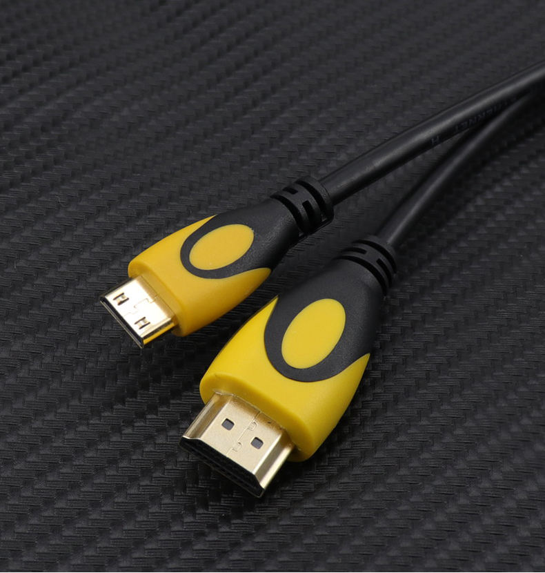 2019 hot selling gold plated connector 1.4V Mini hdmi to hdmi cable