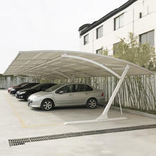 GSP-6 small steel frame cantilever single slope pvc tarpaulin carport