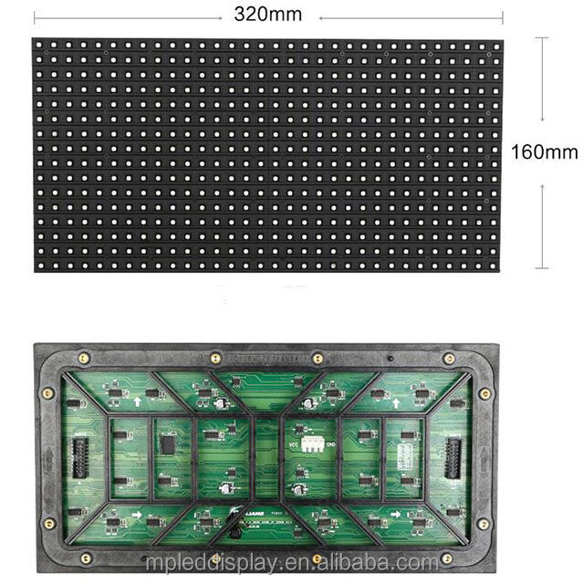 High quality low price display board material Programmable p10 outdoor led module