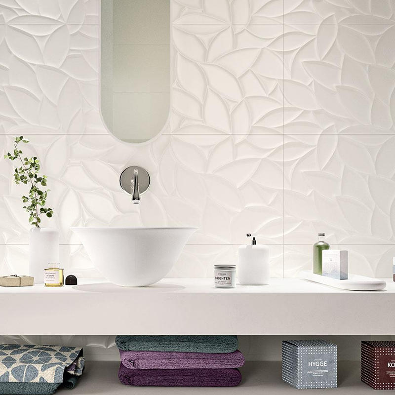 30*60 White Glazed Wave Ceramic Wall Tile for Washroom
