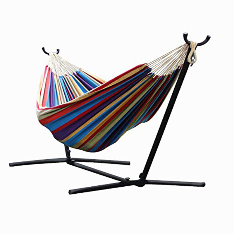 Woqi Outdoor garden Courtyard Easy Set Up Single Double Hanging Swing Chair Hammock With Metal Steel Stand