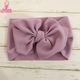 Baby Girls Hair Accessories Top Messy Knot Bow Turban Headbands Newborn Baby Big Bows Wide Nylon Headwraps Headband