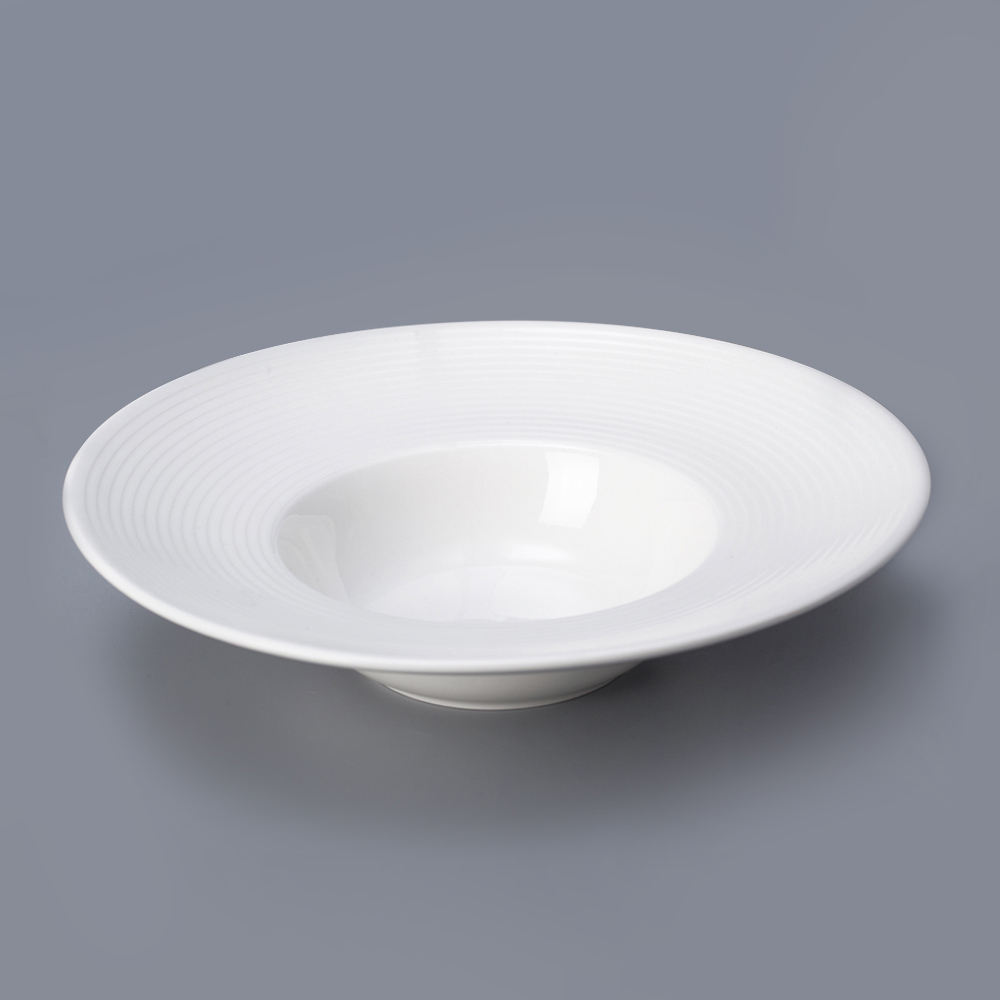 Ceramics tableware china manufacturer best selling hot chinese products durable hotel pure white porcelain pasta bowl