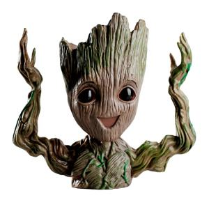 Best-Selling Cartoon Polyresin Tree Man Cute Baby Groot Flower Pot Pen For Livingroom