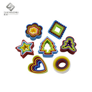 Custom 3D Colorful Plastic Cookie Cutter Set Bake Tools