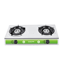 2 Burner Gas Stove Stainless Steel Home Use