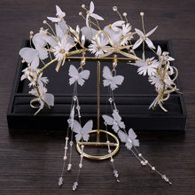 Bridal hair accessory butterfly , flower hairband ,earrings for women and girls