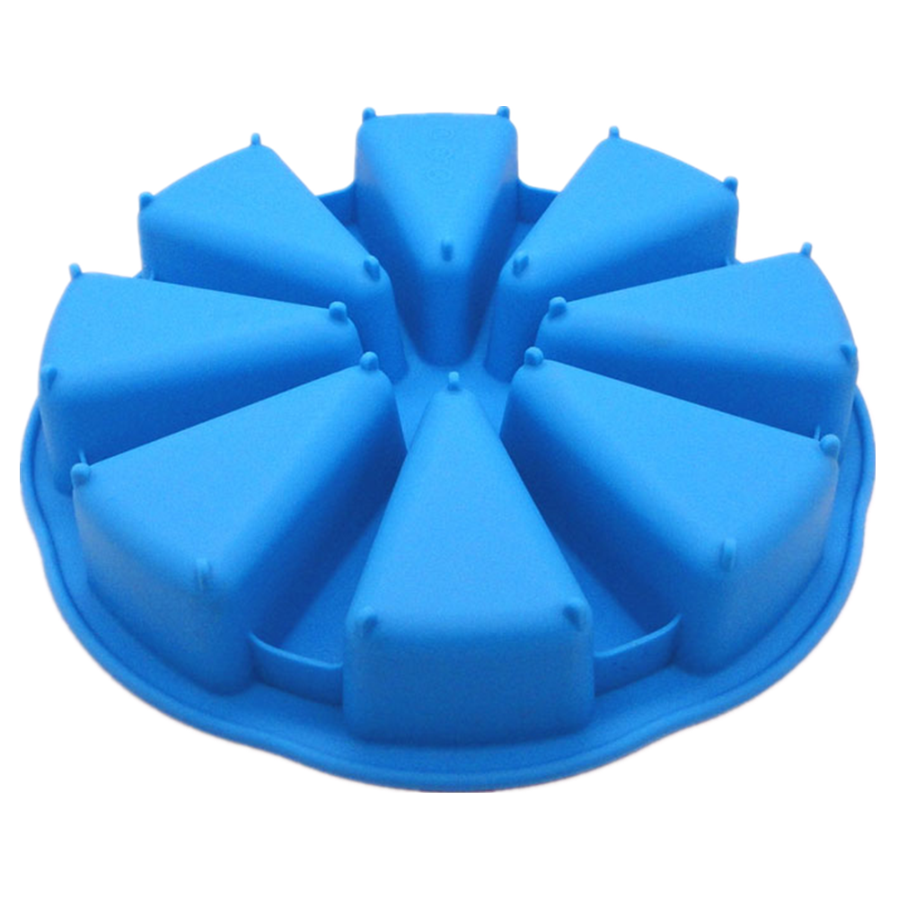 Eco-Friendly 8 triangle shaped Silicone baking pan/ silicone cake mould