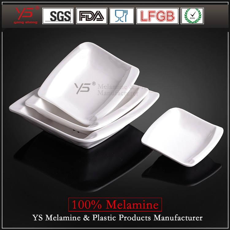 Торговли обеспечение имитация керамики квадратные тарелки