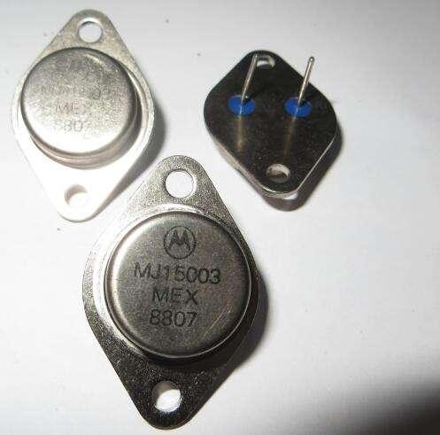 MJ15003G//MJ15004G TO3 Transistor de puissance 140 V 20 A 250 W MJ15003//MJ15004