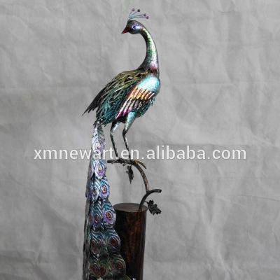 Antique standing peacock metal elegant garden decor peacock wholesales