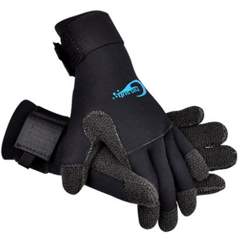 Anti-slip five finger neoprene diving gloves for snorkeling