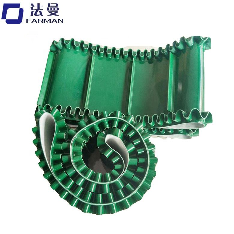 (High) 저 (quality 클리트 skirt conveyor belt green/white 컬러 풀 한 pu/pvc 대 한 과일 industry