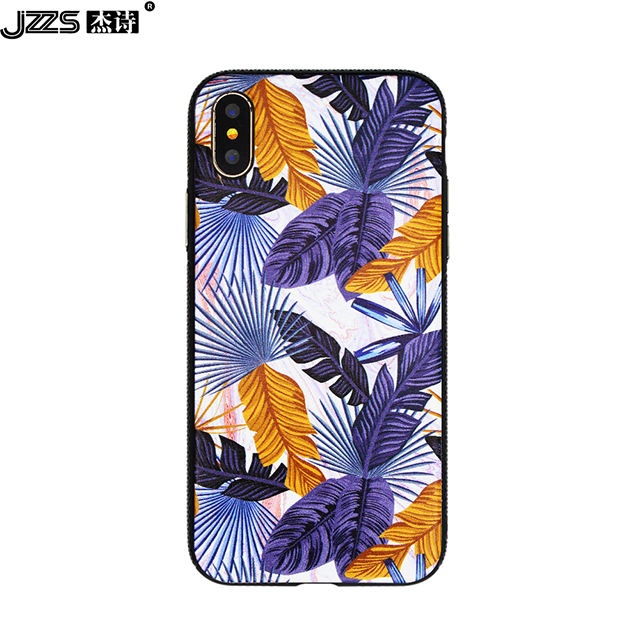 Customized Design stylish multi-color pattern printing TPU PC soft side easy installation phone case for iPhone X