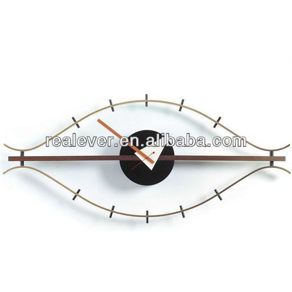 Antiguo marco redondo cuerda George Nelson ojo Reloj de pared
