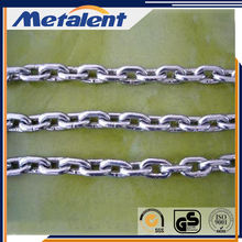 China Weld Steel Gold Plated DIN5685 Transport Chain With Clevis Grab Hooks