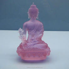 new creative crystal liuli glass buddha statue