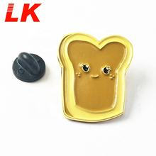 New products custom die cut shape made metal soft enamel pin badges