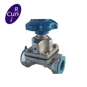 Rubber or Fluorine lined thread type A Type diaphragm valve