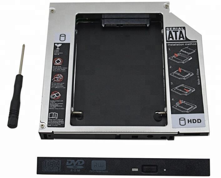 KUYIA IDE a SATA 3.0 12.7mm 2nd HDD Caddy per 2.5 pollice SSD HDD Enclosure Caso per Notebook DVD-ROM bay ottico