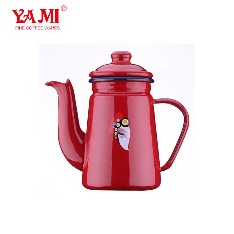 Chinese Traditional Style Enamel Drip Kettle/Coffee and Tea Pot