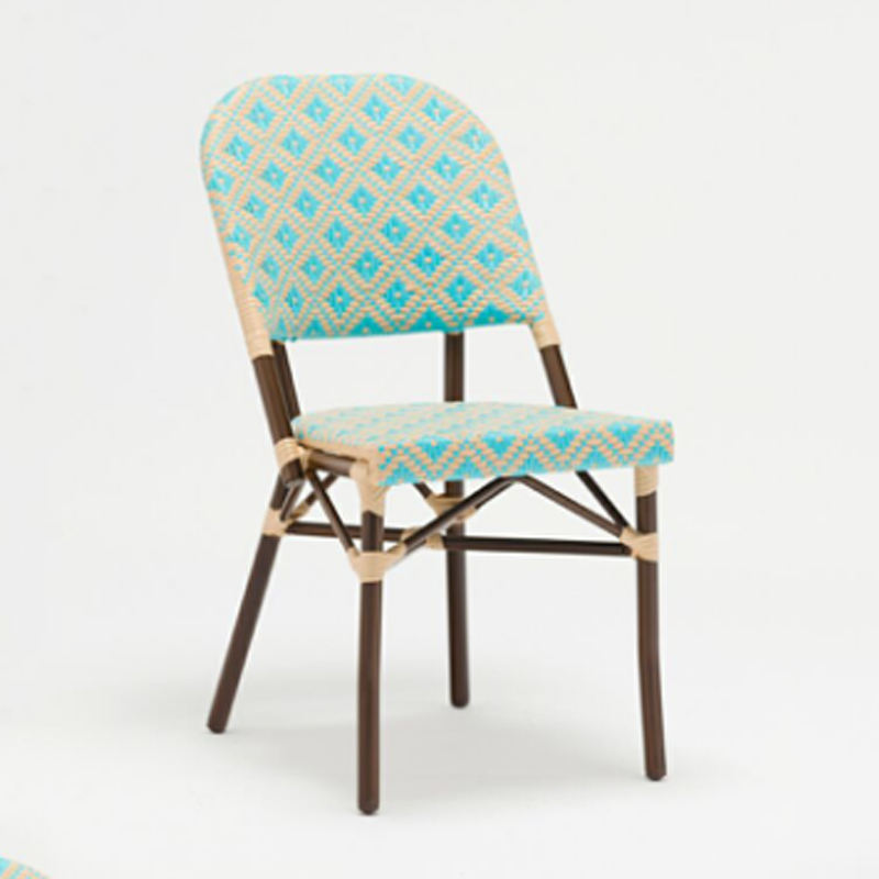 Paris design French cafe chair with bamboo finish