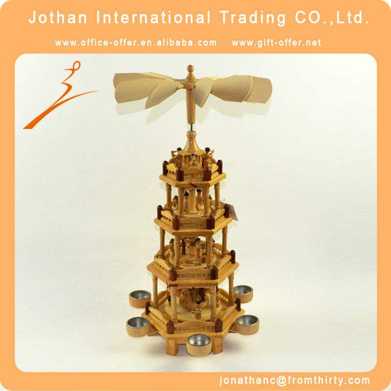 de madeira artesanato de natal decoração da pirâmide