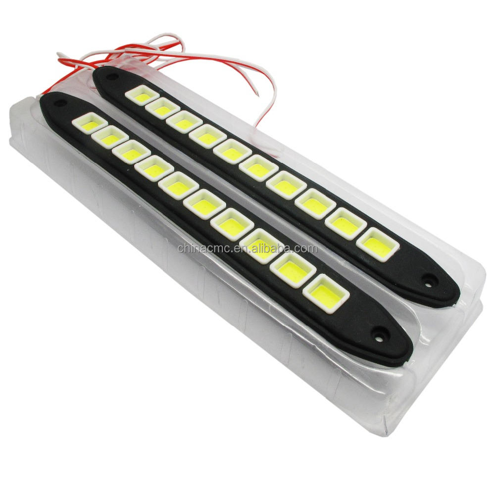 Strip Shape COB Bendable LED Daytime Running Light Waterproof COB Daytime Running Lights Flexible LED Car DRL Driving Lamp