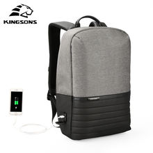 Kingsons korean customized mens smart mochilas backpack bag usb charging back back antirrobo anti theft backpack back bag