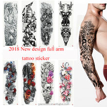 TQB 1-40 New Design Large Size Full Arm Temporary Permanent Tattoo Sticker For Man Sleeve Tattoos