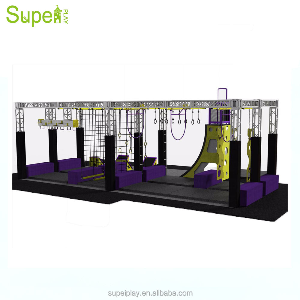 Supei Commercial Use Ninja Warrior Course Trampoline Park for sale