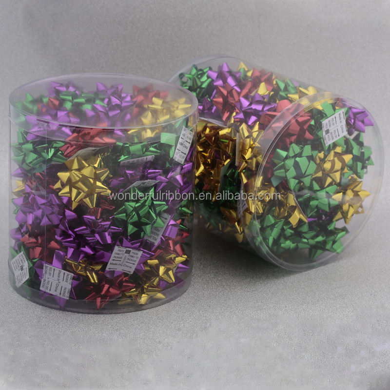 Hot Selling PVC Sets:Custom Designs PP Ribbon Star Bow For gift wrapping or holiday decoration