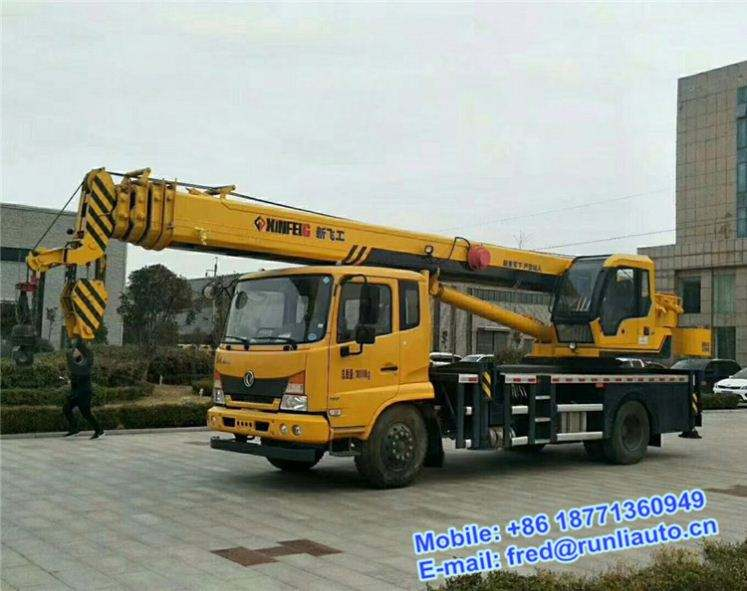 Dongfeng 145 4X4 all wheel drive 10 ton crane truck good price for sale
